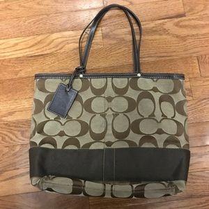 $130 coach purse handbag for women brown